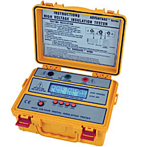 High Voltage Detector With Display : Sew in high voltage digital insulation tester meter